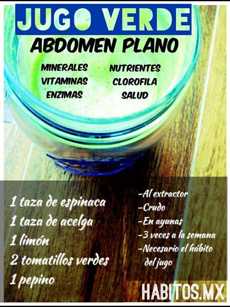 Jugo para abdomen plano