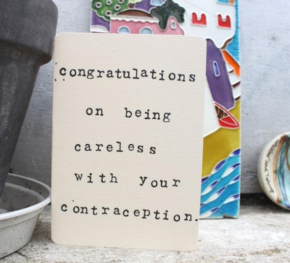Pregnancy congrats card