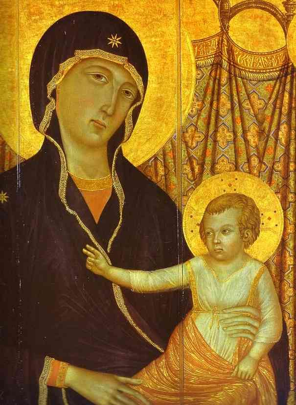 Duccio di Buoninsegna   Duccio di Buoninsegna >> Rucellai Madonna. Detalle   (oleo, obra de ...
