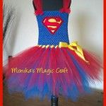 Superwoman tutu - a fabulous Halloween fancy dress outfit. Please enquire for prices.by Monika's Magic Craft