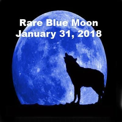 We have a rare magical Blue Moon coming on the 31st!  There will be a total lunar eclipse on the night of the Full Blue Moon! Is that not incredible? This is th