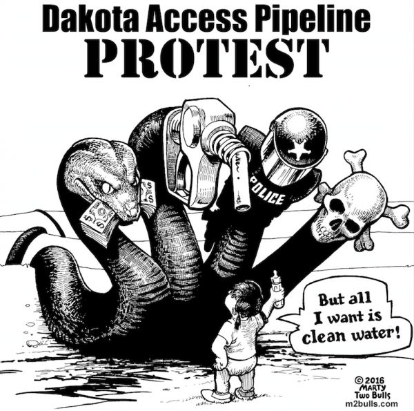 The Standing Rock Sioux tribe believes that the pipeline would put the Missouri River, the water source for the reservation, at risk. They point out 2 recent spills, a 2010 pipeline spill into the Kalamazoo River in Michigan, which cost over $1 billion to clean up with significant contamination remaining, and a 2015 Bakken crude oil spill into the Yellowstone River in Montana. The Tribe is also concerned that the pipeline route may run through sacred Sioux sites.