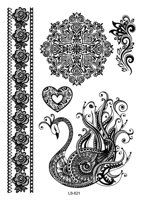 Ls621-21-15-センチ大きな-タトゥーステッカー美容ハンナ女性ブラック-レース花嫁の一時的な-フラッシュ入れ墨ステッカーボディーアート孔雀タトゥー.jpg (472×661)
