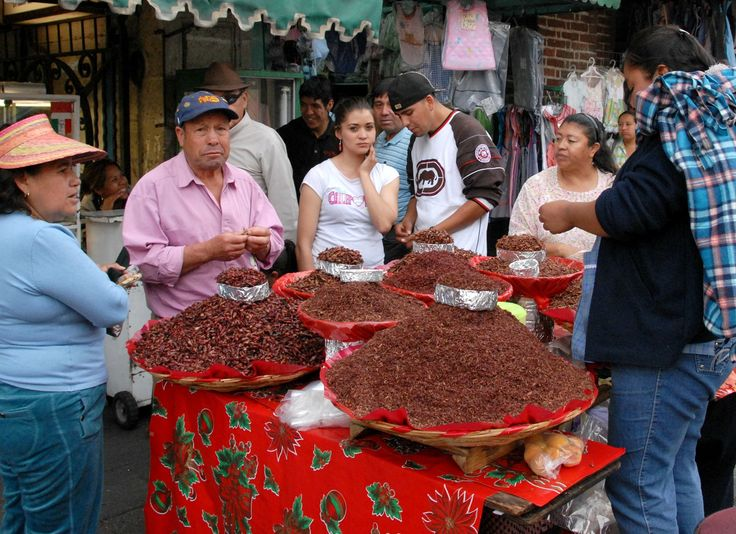 Piles of Chapulines Oaxaca | by Ilhuicamina