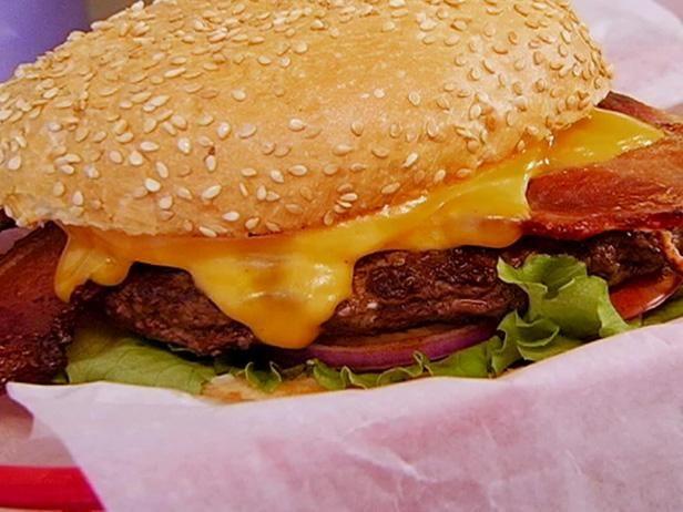 "... tomato, onion, and sharp cheddar. ""And I like my burger rare — I"