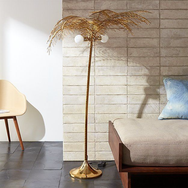 Shop Ocean Palm Tree Floor Lamp.   A genius way to bring bright California vibes to any space.  From the creative minds at Fred Segal, this whimsical palm tree floor lamp is all about the details.