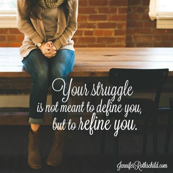 When you come to a sudden bump in the road, never allow your life circumstances to define you. Instead, let them refine you.   Hard things are like heavenly sandpaper on your life. God uses them to shape and mold you into a work of art.   When you feel the pressure of trials, remember that God won't allow them to crush you. He intends for them to make you beautiful.  2 Corinthians 4:8-9 (NASB)