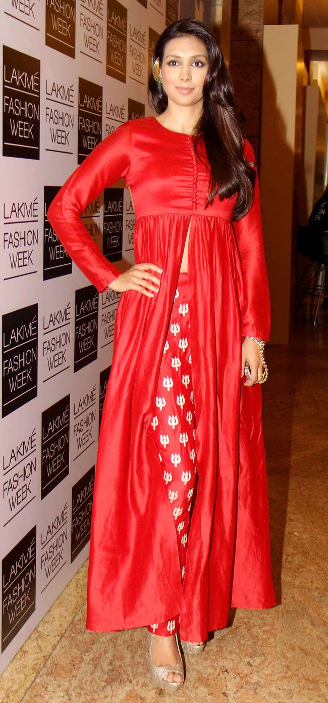 Preeti Desai on Day 3 of the Lakme Fashion Week 2014 #Style #Bollywood #Fashion…