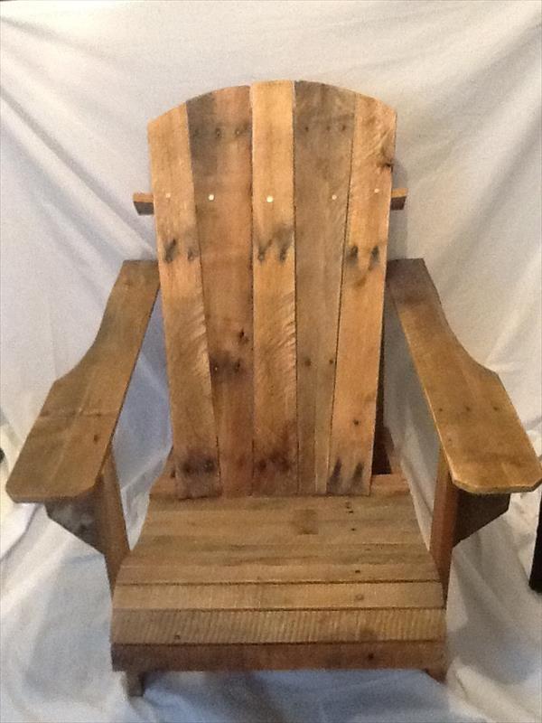 DIY Pallet Adirondack Chair | Pallet Furniture DIY