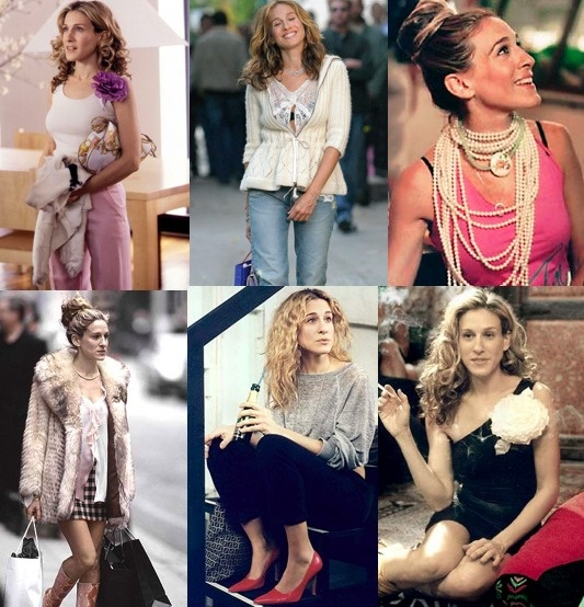 The many glorious fashions of Carrie Bradshaw, as styled by NYC's Patricia Field