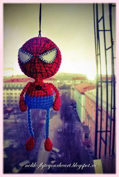 Horgolás minden mennyiségben!!!: Horgolt pókember leírása