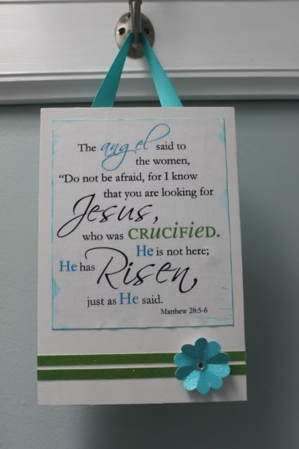 Keeping it simple: Easter sign.  He is Risen plaque