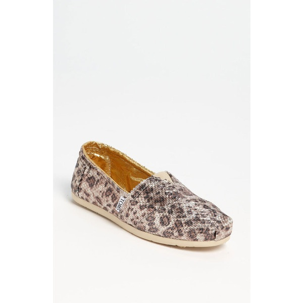Toms+ 'classic - Gold' Slip-On (Women) ($95) ❤ liked on Polyvore