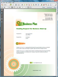 Web-based startup business plan