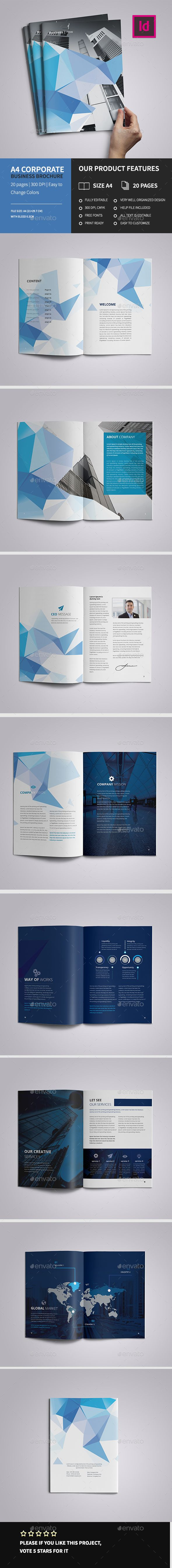 A4 Corporate Business Brochure Template InDesign INDD. Download here: http://graphicriver.net/item/a4-corporate-business-brochure/15422652?ref=ksioks