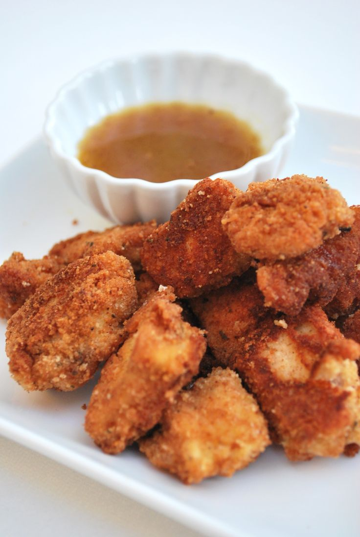paleo chicken nuggets with honey mustard dressing ~ by the paleo fox blog