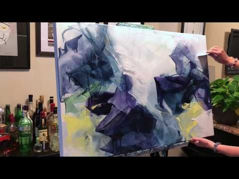 (116) Abstract Painting Techniques with Acrylic Colors (Time Lapse Demonstration) – YouTube