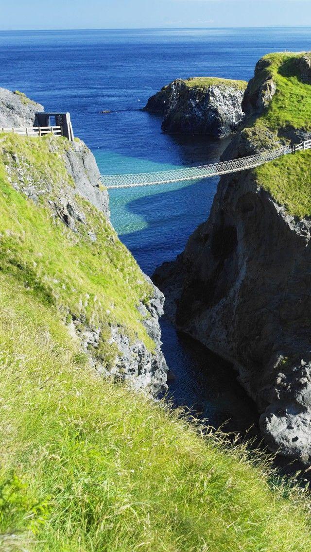 Carrick A Rede Rope Ponte Irlanda do Carrick