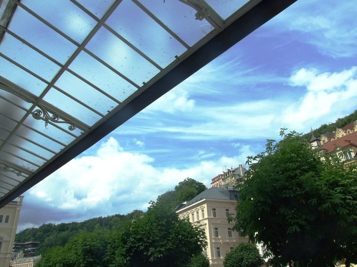 Karlovy Vary - glass roof of Mill´s spring