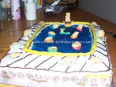 coolest swimming pool birthday cake design. beautiful ideas. Home Design Ideas