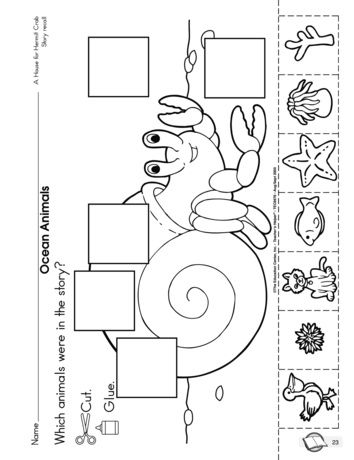 A print and use literature worksheet to follow up A House for Hermit Crab by Eric Carle.