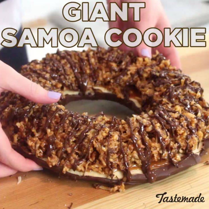 When you can't get enough of your favorite Girl Scout cookie, make your own humongous version.