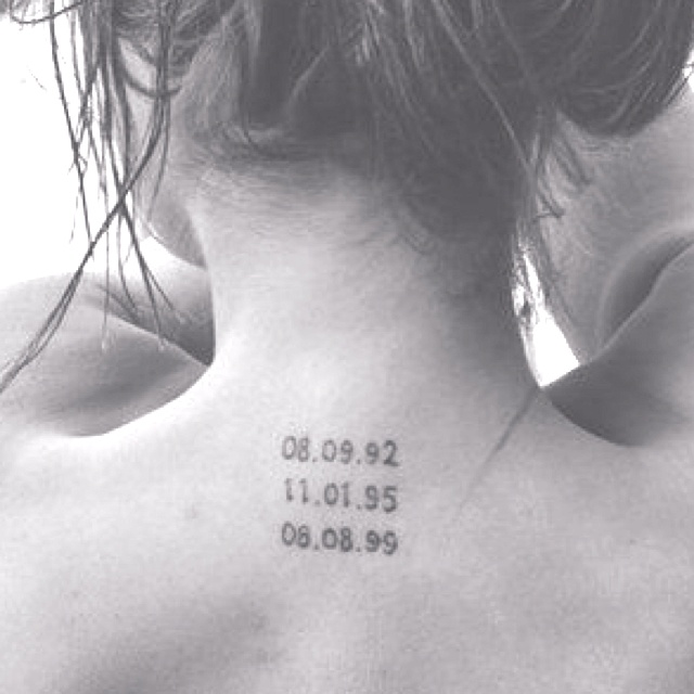 Tattoo Of Childrens Birth Dates Only Moved To My Arm  I