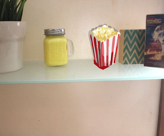 Buttered POPCORN Scented Fragrance MASON JAR Soy by PrinterTimber