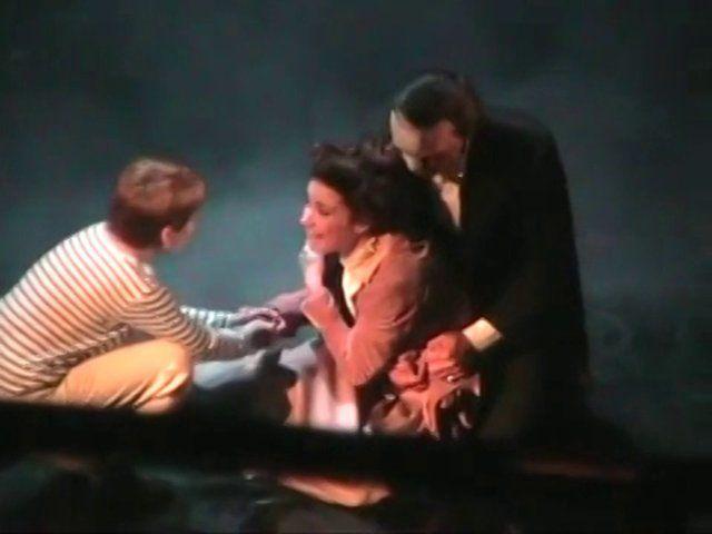 Its the  Finale of Love Never Dies when Christine AKA Sierra Boggess Dies in the  Phantoms Arms AKA the Cute Ramin Karimloo :-)