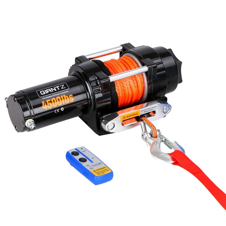 4500 lbs Electric Winch w/ Synthetic Rope & Remote