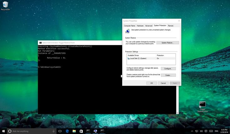 This Windows 10 guide will show the steps to create a System Restore Point with a simple double-click, which then you can use to fix your PC if there are issues after installing a new app or making system changes.