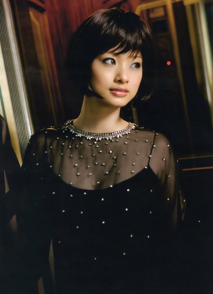 Waaah! Ueto Aya looking gorge with this short black bob! #japanese #hairstyle