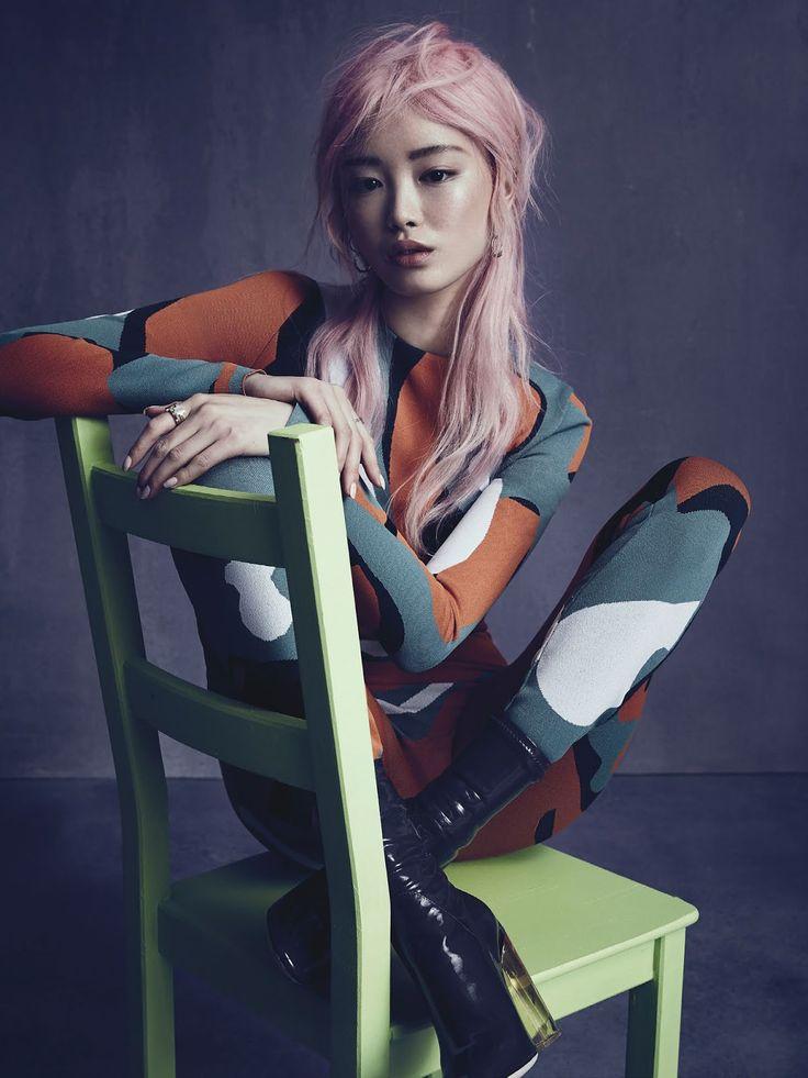 model: fernanda ly (priscillas)   photographer: nicole bentley (mapltd)   stylist: meg gray   hair:  koh  (vivienscreative)   make-...