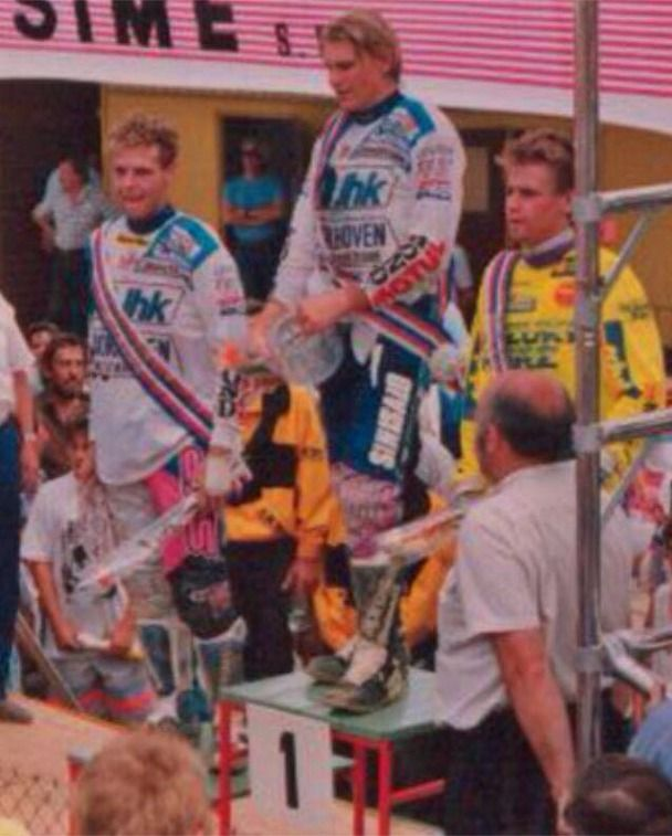 Strijbos (L), Albertyn (M) and Beier (R), 1992 Czech 125cc GP