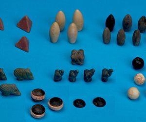 Archaeologists puzzled over immaculate, 5,000-year-old board game pieces.   Intricately carved tokens from a nearly 5,000-year old board game have been unearthed in southeast Turkey, reports Discovery News. The 49 found pieces may be the oldest gaming tokens ever recovered, and they should help to back the current theory that board games originated in the Middle East over five millennia ago.