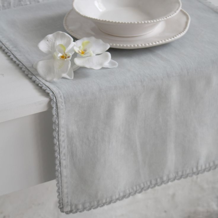 Pale Grey Table Runner
