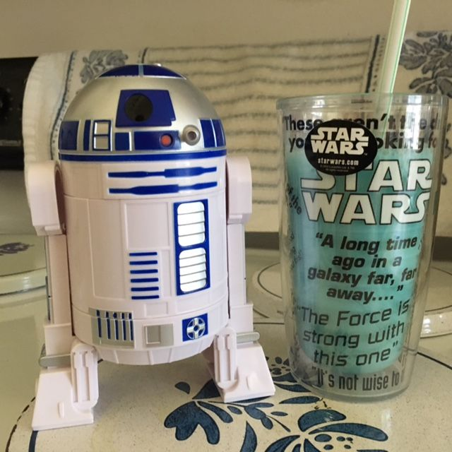 MY R2_D2 Measuring cups, AND MY version of Blue Milk