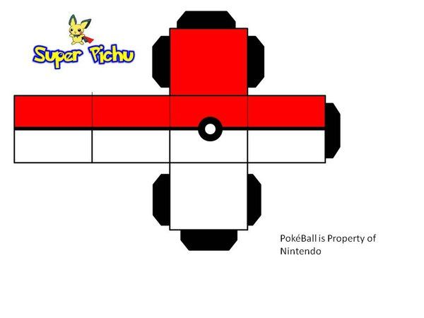 Papercraft Pokemon Pokeball Image Detail For Paper Models And