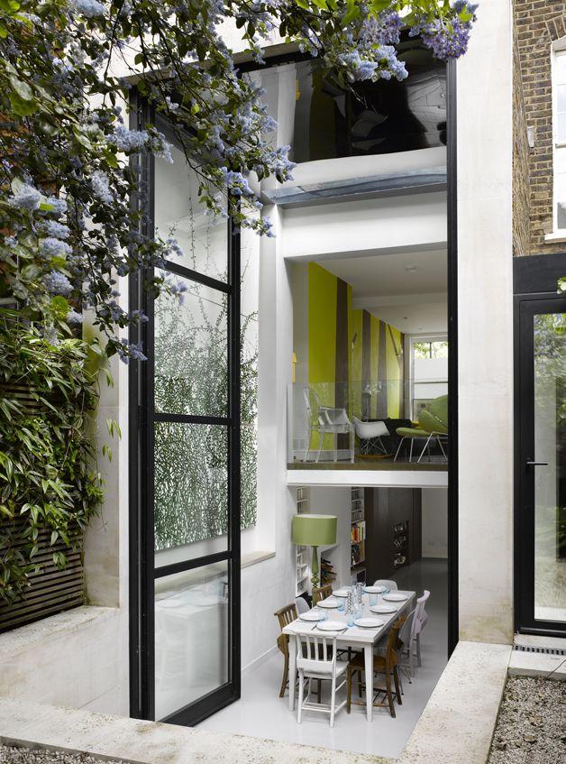 two story bifold door . Islington House . Dominic McKenzie Architects
