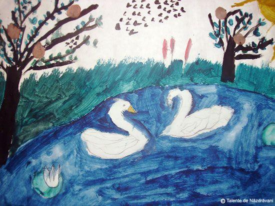 Картинки по запросу trece lebada pe ape poezie imagini