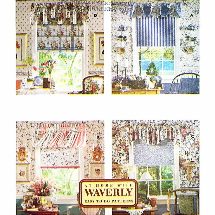 Valances Shade Butterick 6434 Sewing Pattern Vintage Window Treatments c2043