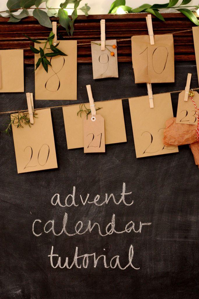 Homemade advent calendar tutorial - www.oysterandpearl.blogspot.co.uk