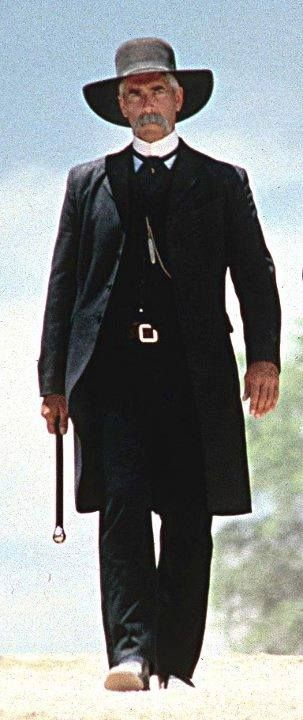 Tombstone, costume design by Joseph Porro. Sam Elliot as  Virgil Earp