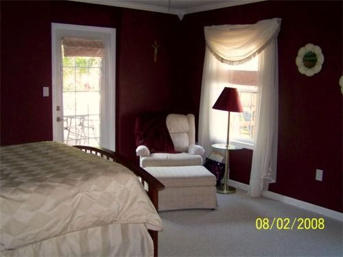 Unique Bedroom Colors Burgundy But Love The Color With Loose Curtains Walls And Decorating Ideas