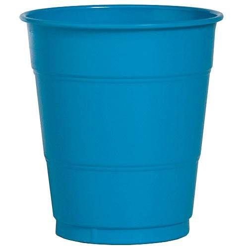 Turquoise 12 oz Plastic Cups