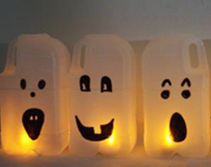 Halloween knutselen: melkpak spook