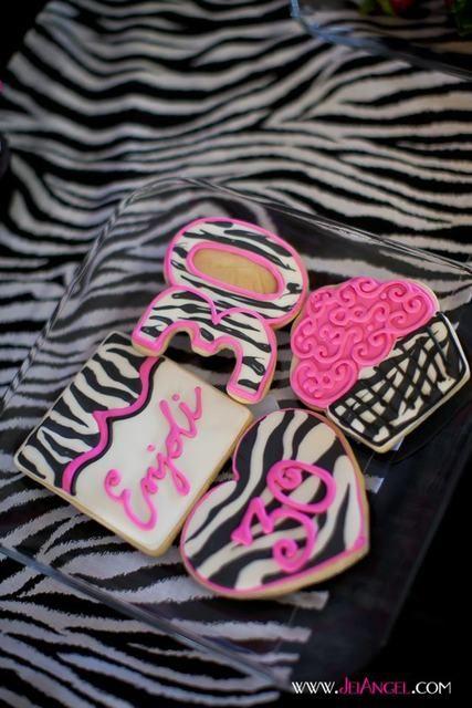 "Photo 5 of 20: Hot Pink with Zebra Print / Birthday ""Zebra Print 30th Birthday Bash"" | Catch My Party"