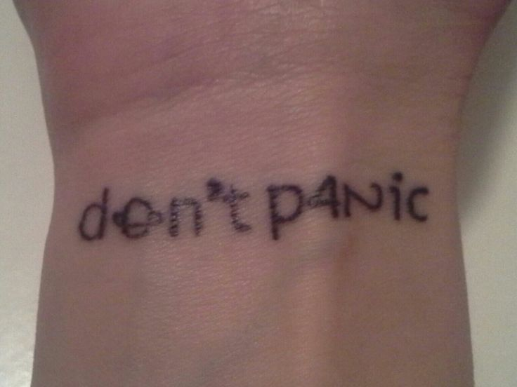 Don't panic Hitchhiker's Guide to the Galaxy tattoo 42