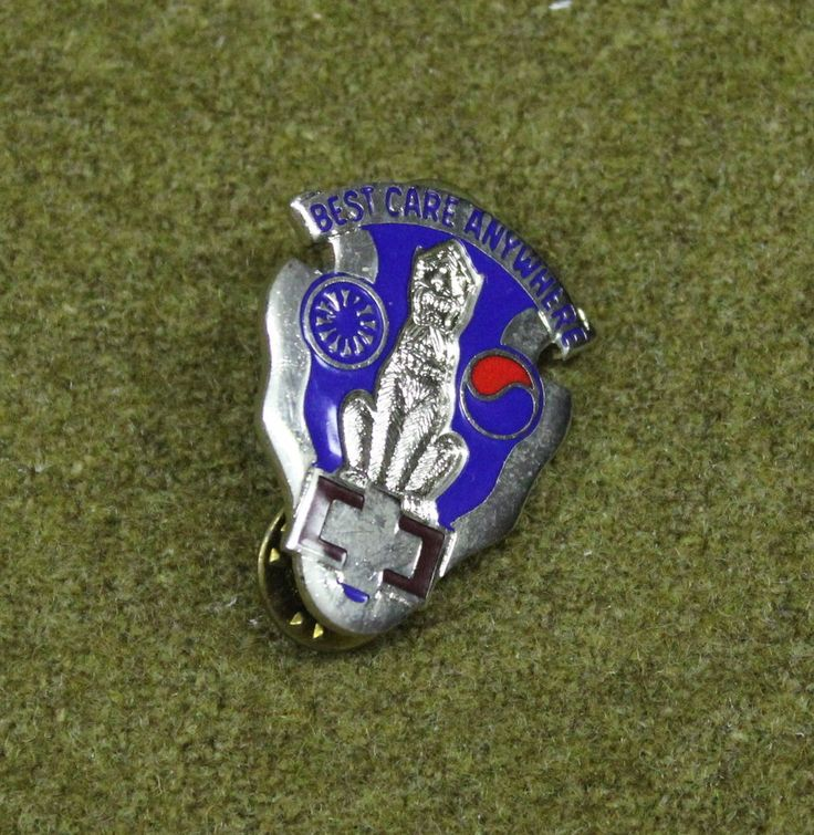 5090)+Military+Pin+US+Army+43rd+Surgical+Hospital+Insignia+Medal+Crest+DI+Badge