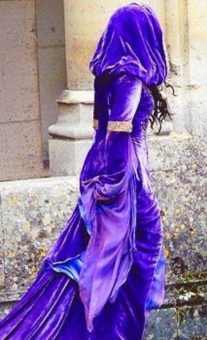~ purple velvet hooded gown ~
